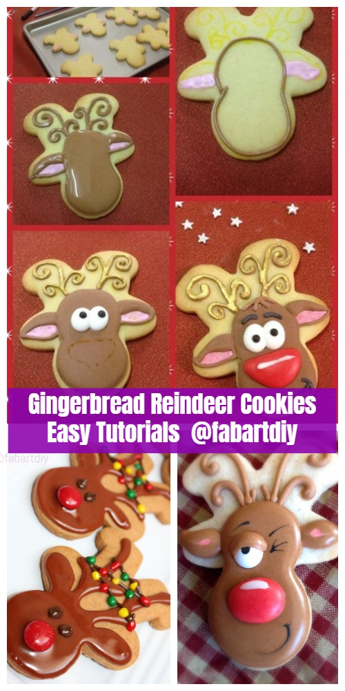 DIY Christmas Gingerbread Reindeer Cookies – Easy Tutorials