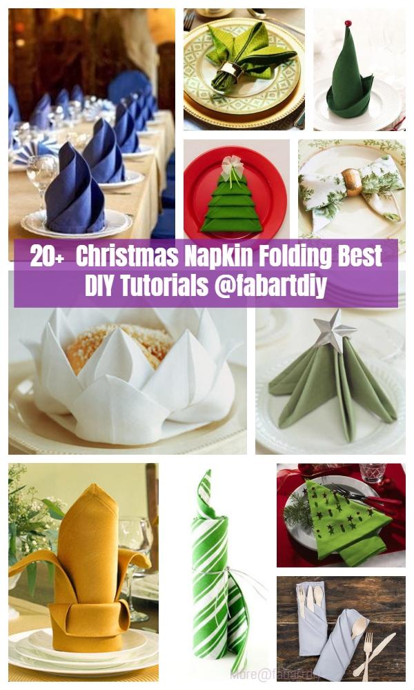 20+ Best DIY Christmas Napkin Folding Tutorials