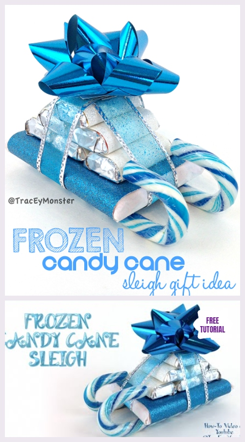DIY Frozen Candy Cane Sleighs Christmas Gift Tutorial – Video