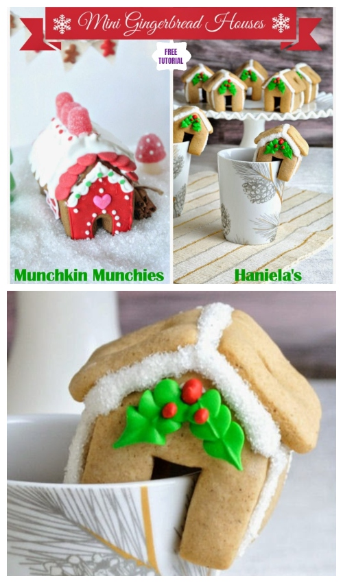 DIY Mini Gingerbread Houses Perch on Mug  - Easy Tutorials