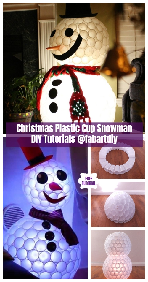 DIY Plastic Cup Snowman Christmas Decoration Tutorials – Video