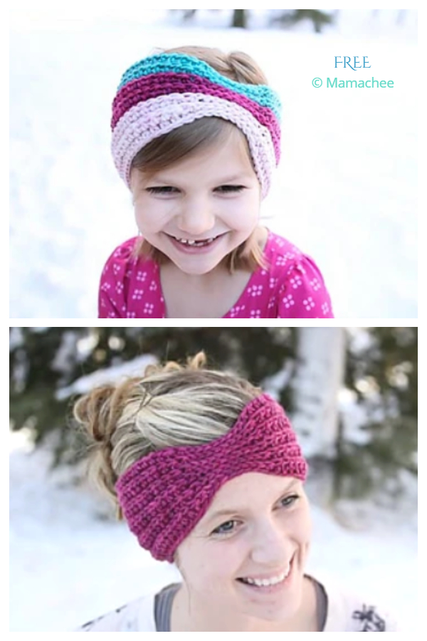 Crochet Everly Head Wrap Free Crochet Patterns - All Sizes
