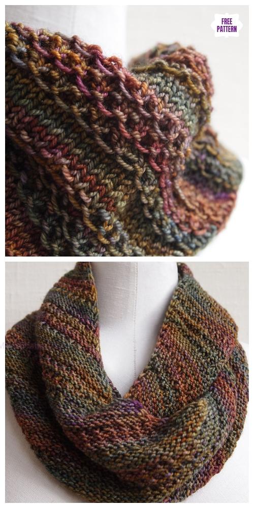Knit That Nice Stitch Cowl Free Knitting Pattern