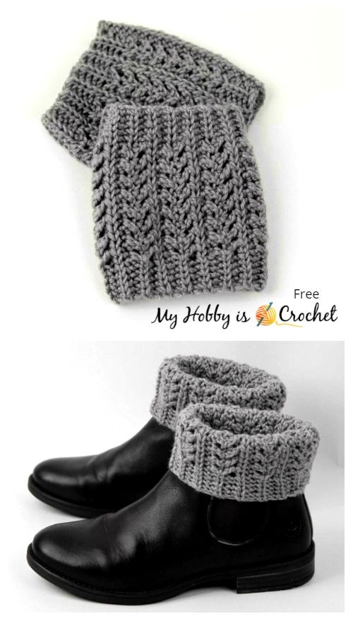 Crochet Chic Aran Boot Cuffs Free Crochet Pattern
