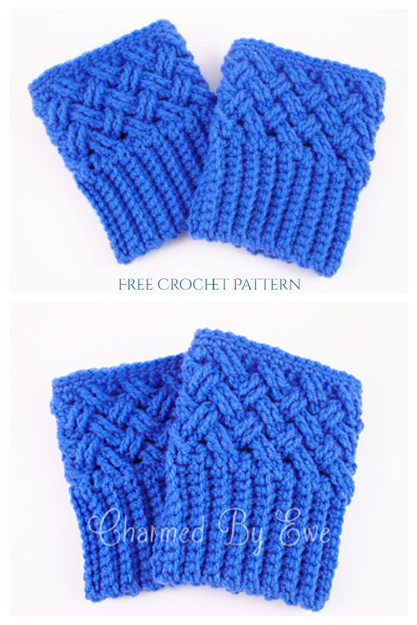 Celtic Dream Boot Cuffs Free Crochet Pattern