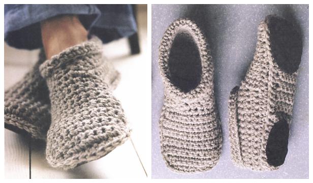 Cozy Crocheted Slipper Boots Free Crochet Pattern + Video