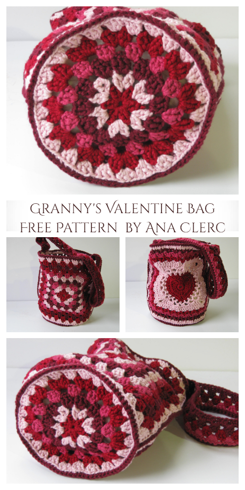Granny's Valentine Bag Free Crochet Pattern