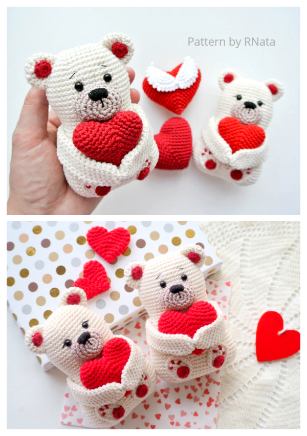 Crochet Valentine Teddy Bear Amigurumi Patterns