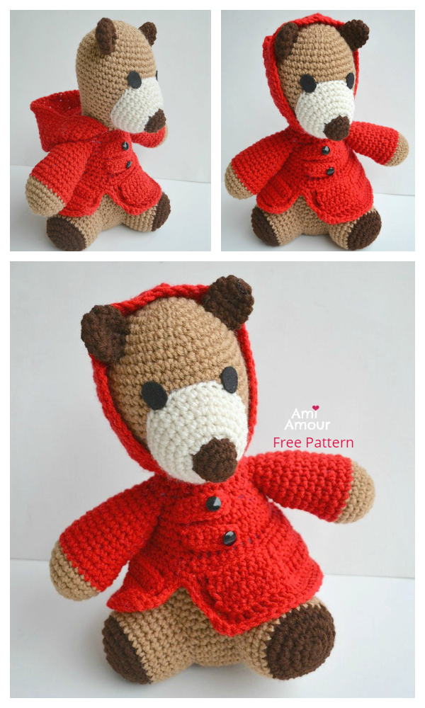Crochet Valentine Teddy Bear Amigurumi Free Patterns
