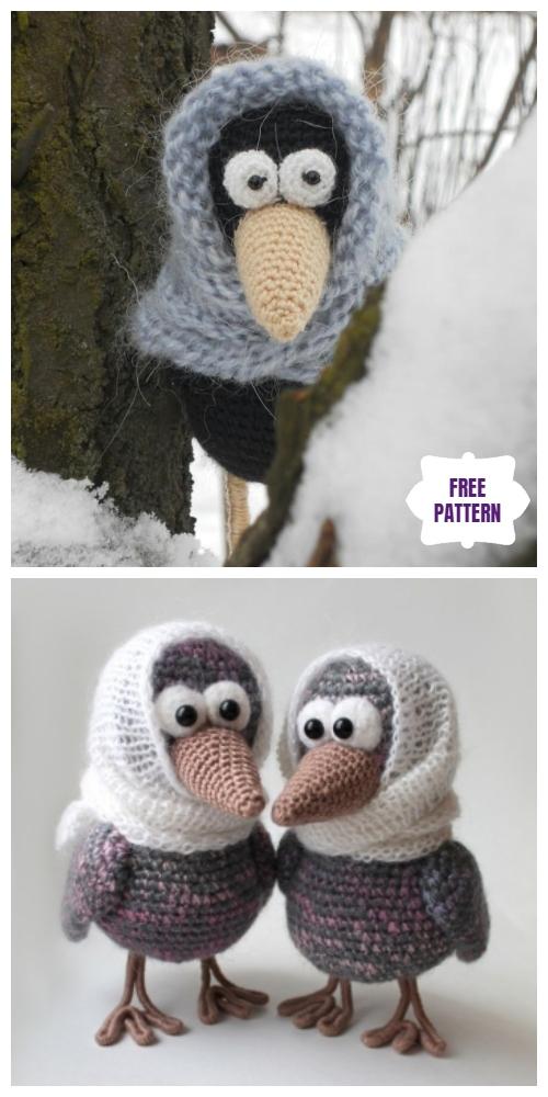 Crochet Curious Crow Amigurumi Free Patterns