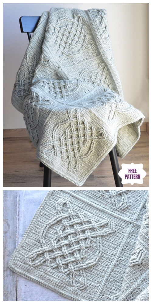 Crochet Celtic Tiles Blanket Free Crochet Pattern