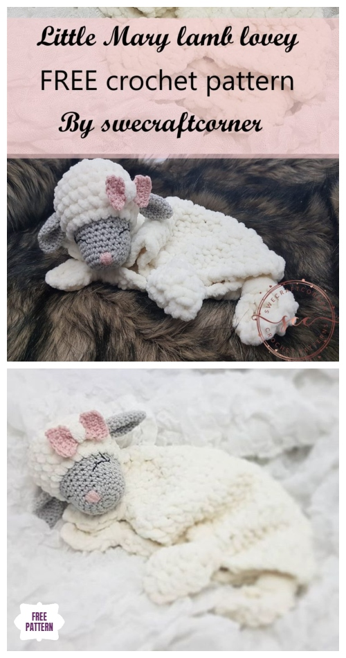 Crochet Chunky Little Lamb Lovey Free Crochet Pattern