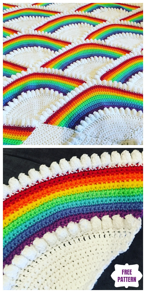 Crochet Rainbow Afghan Free Crochet Pattern