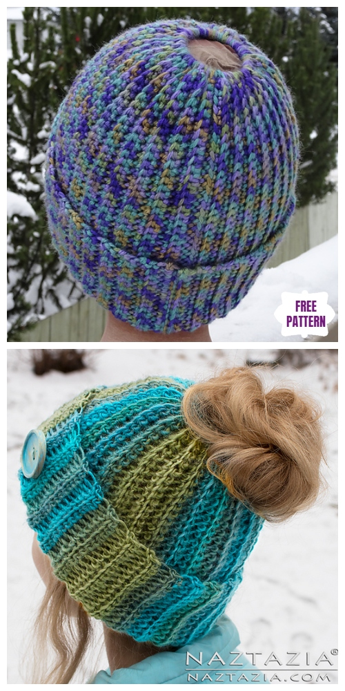 Crochet Ribbed Bun Hat Free Crochet Pattern