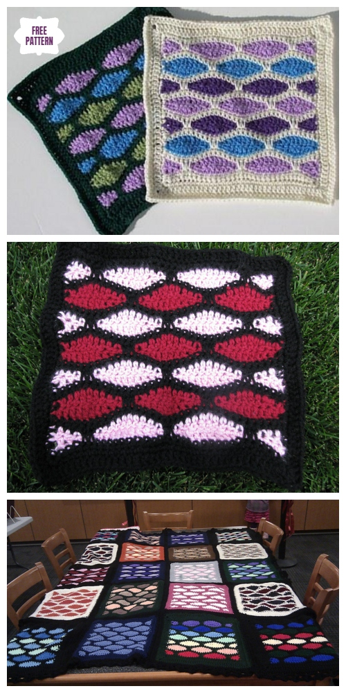 Crochet Stained Glass Square Free Crochet Patterns