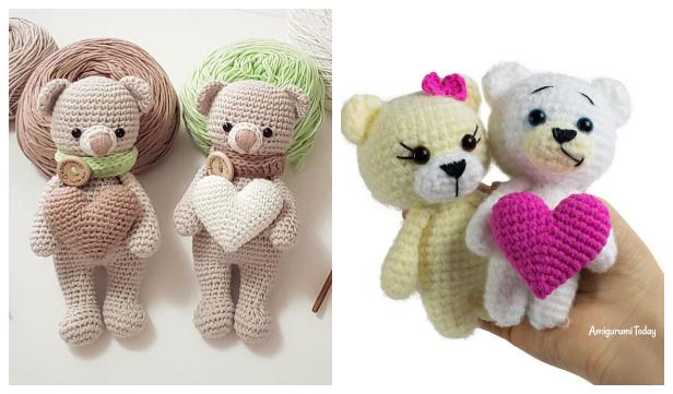 Crochet Valentine Teddy Bear Amigurumi Free Patterns