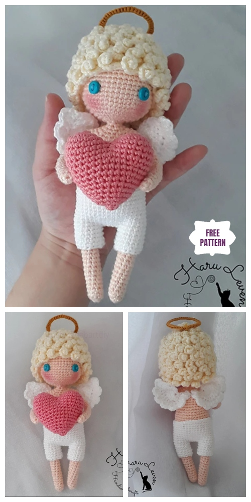 Crochet Valentine's Cupid Angel Amigurumi Free Pattern