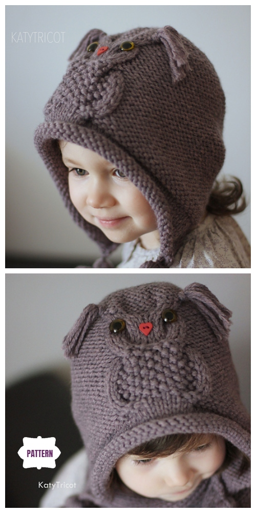 Kids Owl Hat Knitting Patterns Free & Paid - Owl Ways Hat Knitting Pattern