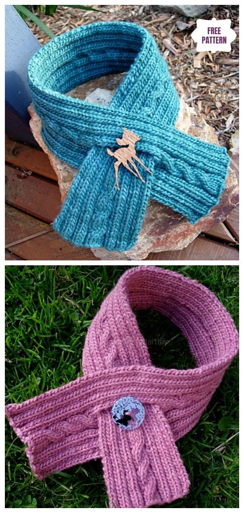 Knit Paula's Scarfette Free Knitting Pattern