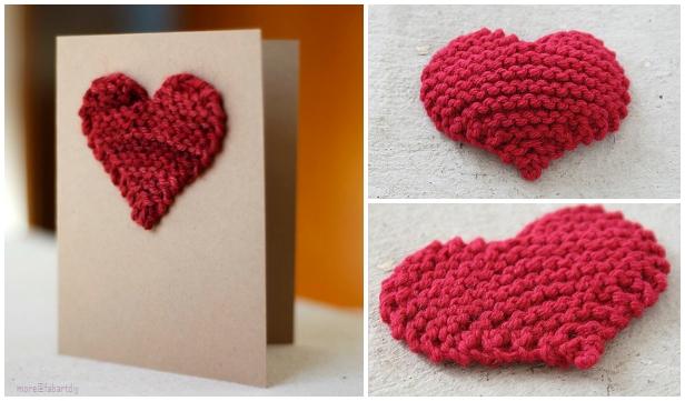 Knit valentine heart applique free knitting patterns
