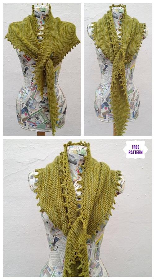 Like a Leaf on the Wind Shawl Free Knitting Pattern