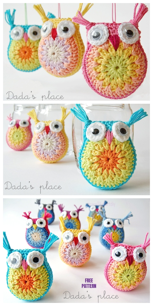 Cute Owl Free Crochet Pattern | 1000x500