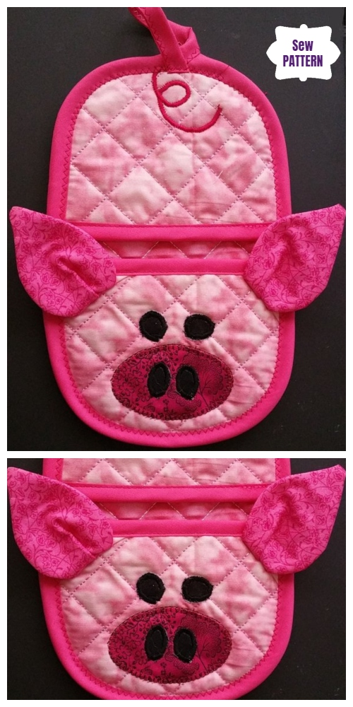 DIY Pig Oven Mitt Sew Patterns