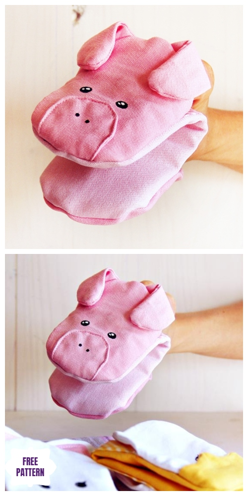 DIY Piglet Potholder Free Sew Pattern and Tutorial