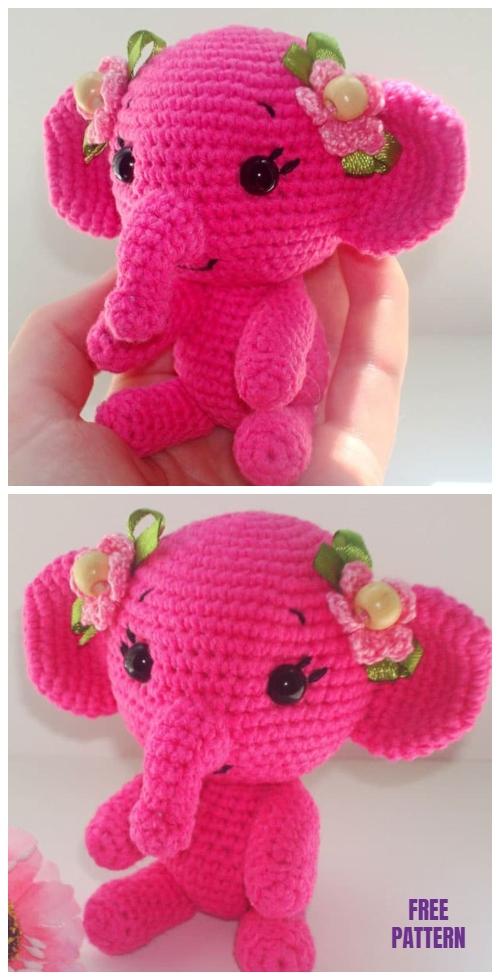 Pink Elephant Amigurumi Free Crochet Pattern