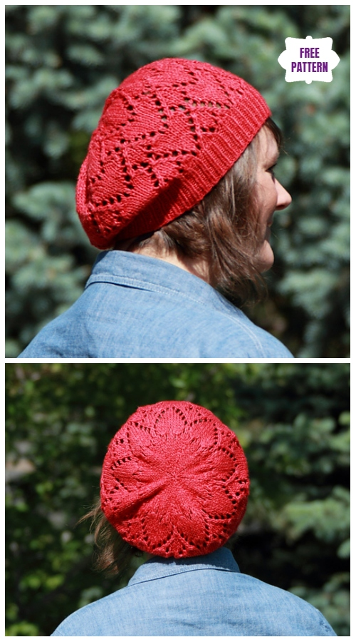 Ruby Red Heart Hat Free Knitting Pattern