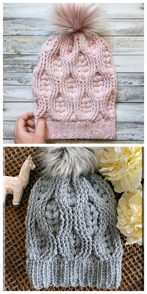 The Woven Hearts Beanie Free Crochet Pattern