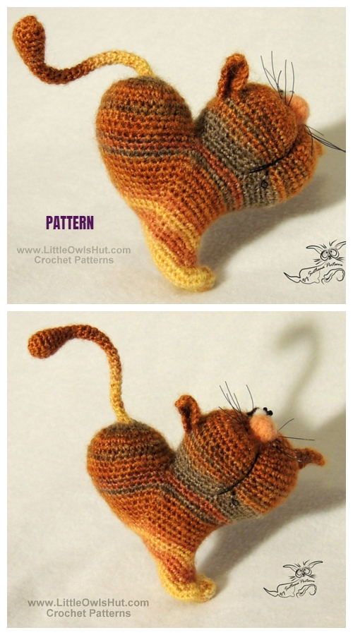 Valentine Heart Cat Amigurumi Free Crochet Pattern & Paid