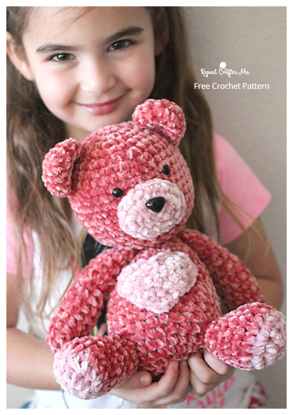 Crochet Velvet Valentine Bear Amigurumi Free Patterns