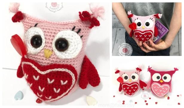 Valentine's Day Cat crochet pattern - Amigurumi Today | 361x616