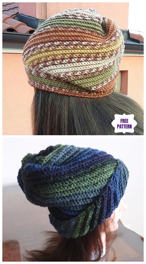 Crochet Whirl Hat Free Crochet Patterns