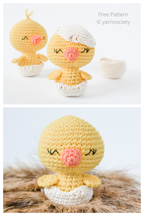 Crochet Charlie the Chick Amigurumi Free Patterns