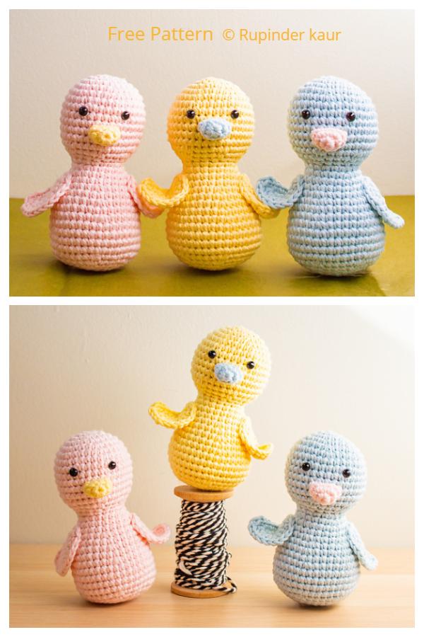 Crochet Easter Chick Peeps Amigurumi Free Patterns