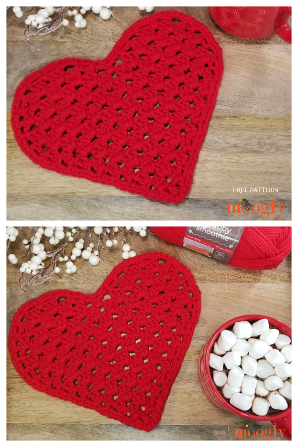Heart Shaped Cloth Free Crochet Pattern
