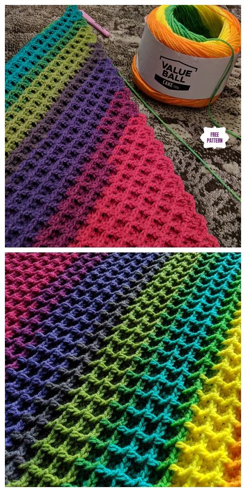 C2c Waffle Stitch Blanket Free Crochet Pattern Diy Magazine