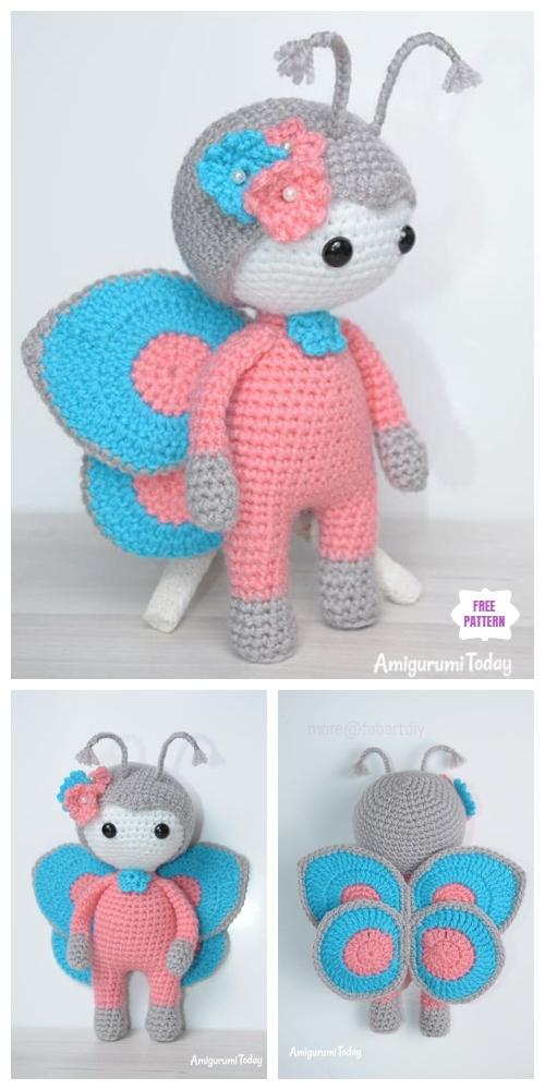 Crochet Butterfly Doll Amigurumi Free Pattern