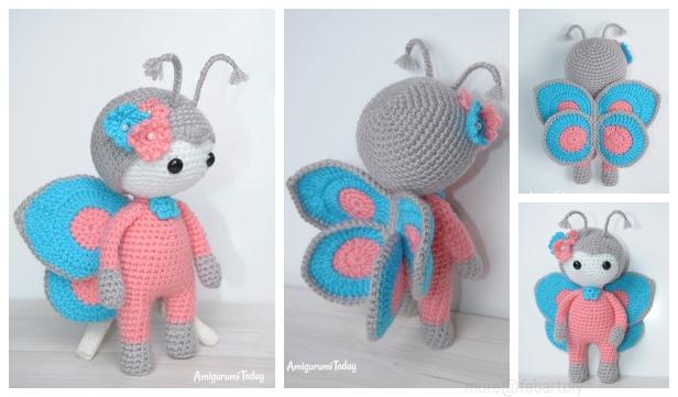 Butterfly Amigurumi Free Crochet Pattern • Spin a Yarn Crochet | 361x616