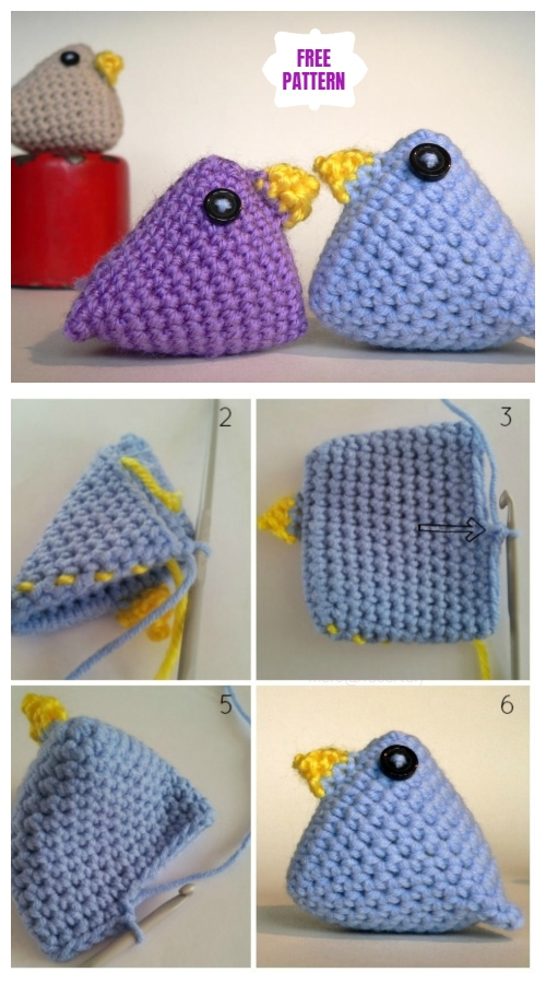 Crochet Chicken Critter Toy Free Patterns-Super Quick Easter Chicks Free Pattern