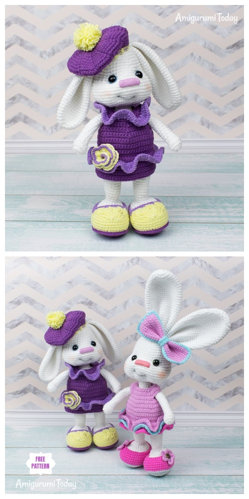 Crochet Easter Bunny Amigurumi Free Patterns