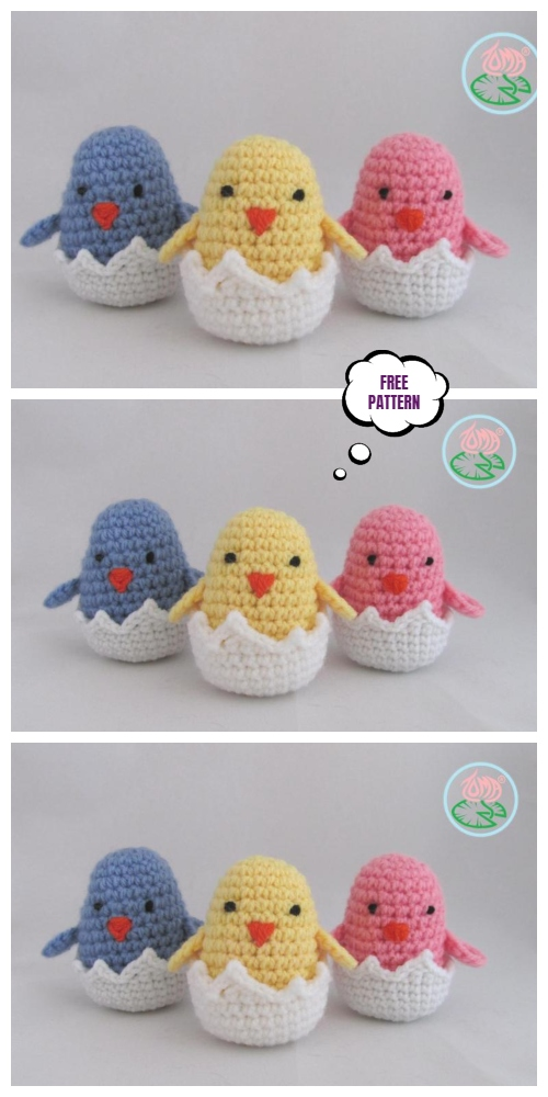 Crochet Easter Chick Egg Amigurumi Free Patterns