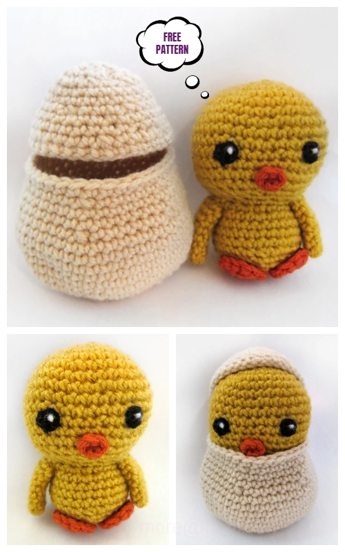 Crochet Easter Hatching Chick Amigurumi Free Patterns