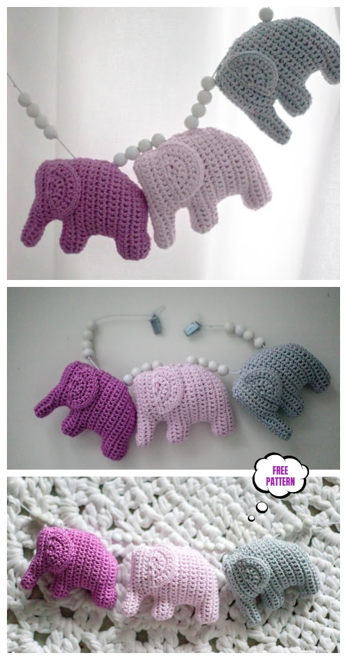 Crochet Elephant Amigurumi Free Patterns -Video