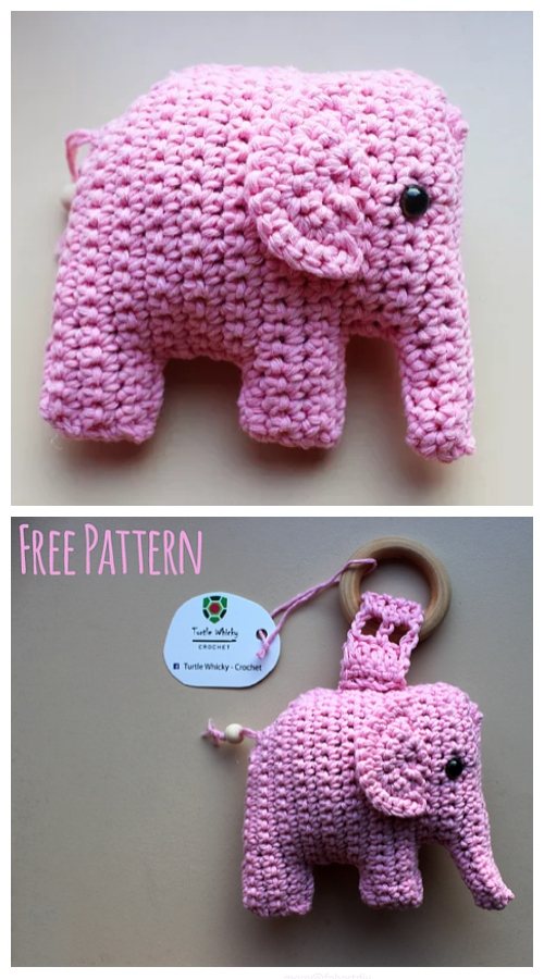 Crochet Little Elephant Amigurumi Free Patterns -Video