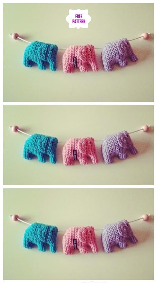 Crochet Sweet Little Elephant Amigurumi Free Patterns -Video