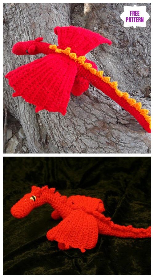 Cute Little Dragon Free Crochet Pattern - Knit And Crochet Daily | 900x500