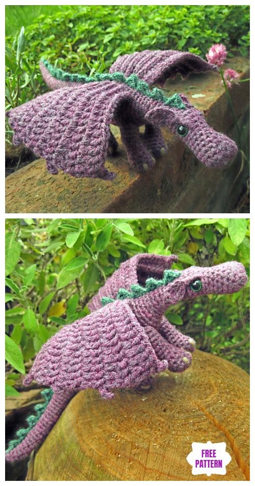 Crochet Fierce Little Dragon Amigurumi Free Pattern - Video